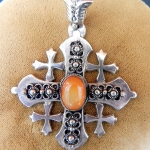 antique-sterling-silver-carnelian-jerusalem-cross-necklace-pendant