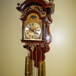 Vintage Antique Franz Hermele Holland German Wall Clock