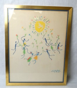 Pablo Picasso The Dance of Catalonia Lithograph Framed Print 1959
