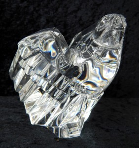 Signed Steuben Crystal Pollard Eagle Bird Paperweight