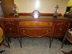Vintage Cherry Sideboard Buffet & China Cabinet